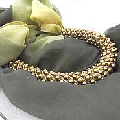 Украшения handmade. Livemaster - original item Scarf-necklace of hematite. Handmade.