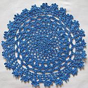 Для дома и интерьера ручной работы. Ярмарка Мастеров - ручная работа Ажурная сине-голубая салфетка. Handmade.