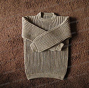 Одежда handmade. Livemaster - original item Sweater from sheep wool without a collar, brown (No. №5). Handmade.