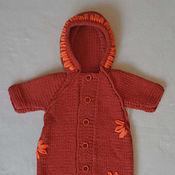 Работы для детей, ручной работы. Ярмарка Мастеров - ручная работа Вязанный конверт для новрожденного Осень. Handmade.