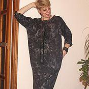 Одежда ручной работы. Ярмарка Мастеров - ручная работа Платье шерстяное Onesize. Handmade.