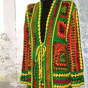 Одежда handmade. Livemaster - original item Cardigan. Pastoral. Crochet.. Handmade.
