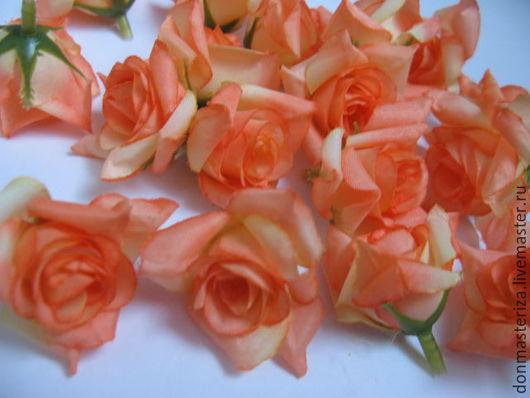 Материалы для флористики ручной работы. Ярмарка Мастеров - ручная работа. Купить головки оранжевых роз. Handmade. Оранжевый, головки роз