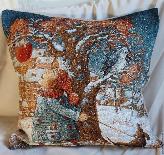Текстиль, ковры ручной работы. Ярмарка Мастеров - ручная работа. Купить ПРОГУЛКА: чехол гобеленовый на подушку, 45-45 см. Handmade.