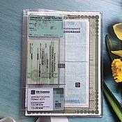 Канцелярские товары handmade. Livemaster - original item Insert for documents B5 for 4 sets of documents. Handmade.