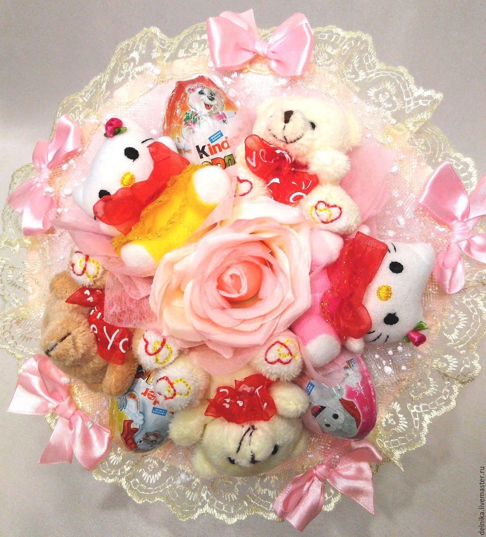 Букеты для девочки, цветы коробочке