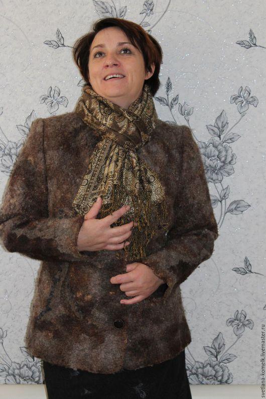 Верхняя одежда ручной работы. Ярмарка Мастеров - ручная работа. Купить Жакет осенний,одежда ручной работы.с флисом,теплый жакет,шубка,букле. Handmade.