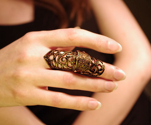 Вариант кольца с двумя дужками.