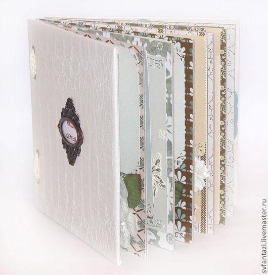 """Свадебные фотоальбомы ручной работы. Ярмарка Мастеров - ручная работа. Купить Фотоальбом """"Винтажный """"1 размер 20/20. Handmade. Белый"""