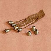 Материалы для творчества ручной работы. Ярмарка Мастеров - ручная работа Концевик, наконечник для шнура-  бронза. Handmade.