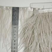 Материалы для творчества handmade. Livemaster - original item Trim of ostrich feathers 10-15 cm coffee. Handmade.