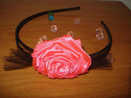 """Диадемы, обручи ручной работы. Ярмарка Мастеров - ручная работа. Купить Ободок """"Маскарад"""". Handmade. Розовый, ободок с розами"""