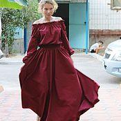 "Одежда handmade. Livemaster - original item Летнее платье в пол ""Бордо"". Handmade."