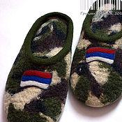 """Обувь ручной работы. Ярмарка Мастеров - ручная работа Тапки """"Защитник"""". Handmade."""