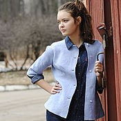 Одежда handmade. Livemaster - original item Felted jacket with embroidery