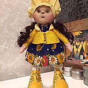 Куклы и игрушки ручной работы. Ярмарка Мастеров - ручная работа Куколка Подсолнушек. Handmade.