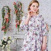 Платье Сабрина цветы большие размеры