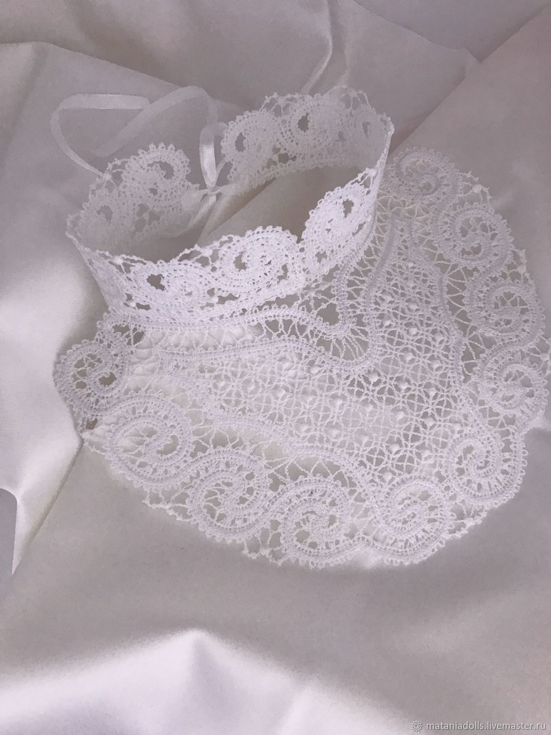 Lace white collar with stand 'Choker2', Collars, Liepaja,  Фото №1