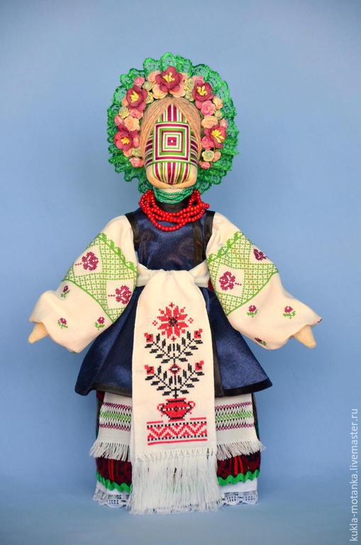 Народные куклы ручной работы. Ярмарка Мастеров - ручная работа. Купить Кукла-мотанка. Handmade. Разноцветный, бязь, тесьма декоративная