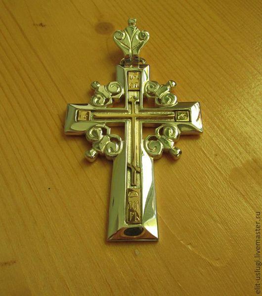 Кулоны, подвески ручной работы. Ярмарка Мастеров - ручная работа. Купить Крест. Handmade. Православный крест, нательный крест, золото