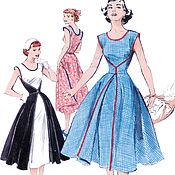 Выкройки для шитья ручной работы. Ярмарка Мастеров - ручная работа B4790 Выкройка Платья 50-х годов Винтажное летнее 1952 г.  B4790. Handmade.