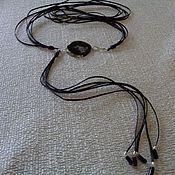 Аксессуары handmade. Livemaster - original item Belt made of leather, natural stones and silver. Handmade.