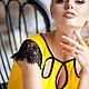 """Платья ручной работы. Ярмарка Мастеров - ручная работа. Купить Платье """"Мое солнце"""". Handmade. Черный, бартер, вискоза"""