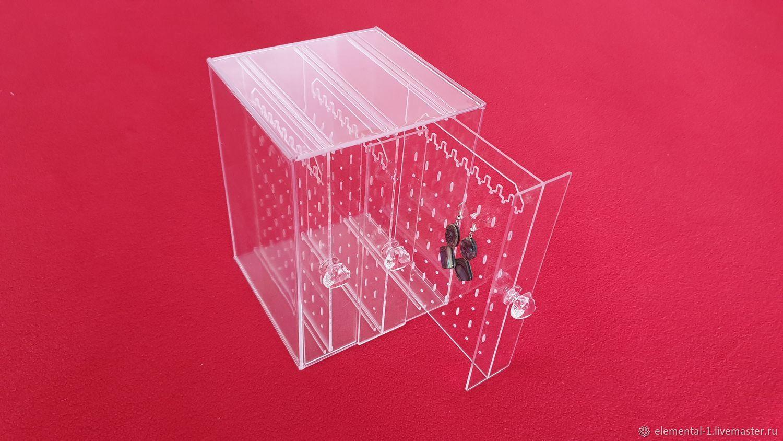 Коробка-Органайзер на 3 отделения для сережек и цепочек, Органайзеры, Москва,  Фото №1