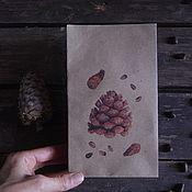 """Пакеты ручной работы. Ярмарка Мастеров - ручная работа Крафт пакет """"Кедровая шишка"""". Handmade."""