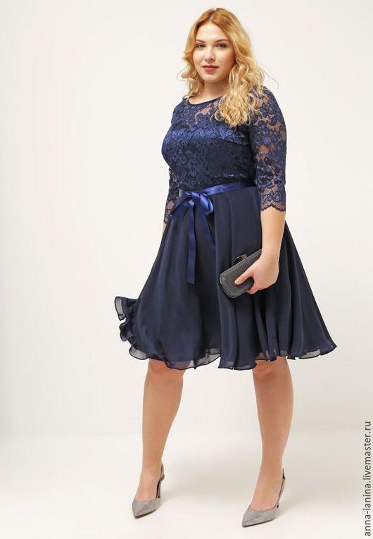 Платье коктейльное, платье на новый год, одежда больших размеров