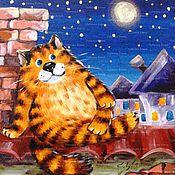 """Картины и панно ручной работы. Ярмарка Мастеров - ручная работа """"Коты и кошки"""". Handmade."""