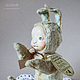 Мишки Тедди ручной работы. Ярмарка Мастеров - ручная работа. Купить Подснежный Щекастик Тедди-долл. Handmade. Мятный