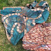 Сумки и аксессуары handmade. Livemaster - original item Bag-shopper felted red-emerald. Handmade.