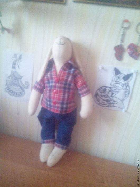 Куклы Тильды ручной работы. Ярмарка Мастеров - ручная работа. Купить Зайчик-красавчик. Handmade. Кукла ручной работы