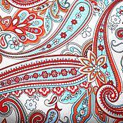 """Материалы для творчества ручной работы. Ярмарка Мастеров - ручная работа Ткань """"Огурцы"""" полульняная.. Handmade."""