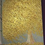 Картины и панно handmade. Livemaster - original item Painting of a Golden tree abstract Golden