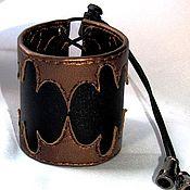 """Украшения ручной работы. Ярмарка Мастеров - ручная работа кожаный браслет """"Медное пламя"""". Handmade."""