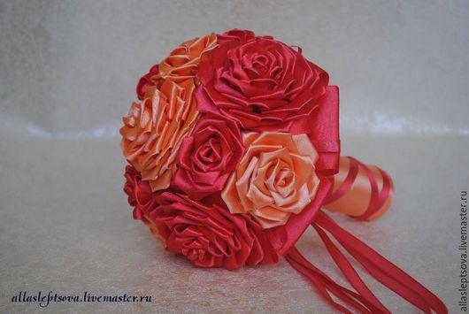 Свадебные цветы ручной работы. Ярмарка Мастеров - ручная работа. Купить Букет-дублер. Handmade. Коралловый, букет невесты, свадьба