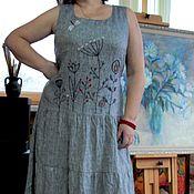 Одежда handmade. Livemaster - original item Summer linen dress with hand embroidery. Handmade.
