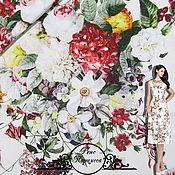 """Материалы для творчества handmade. Livemaster - original item Репс Blumarine """"Нарцисса"""" итальянские ткани. Handmade."""