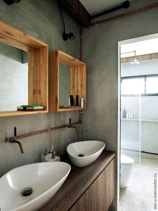 """Зеркала ручной работы. Ярмарка Мастеров - ручная работа. Купить Зеркала в ванную комнату в стиле """"Лофт"""". Handmade. Комбинированный, зеркало"""
