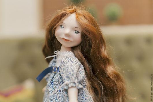 Коллекционные куклы ручной работы. Ярмарка Мастеров - ручная работа. Купить Вероника. Handmade. Синий, коллекционная кукла, единственный экземпляр