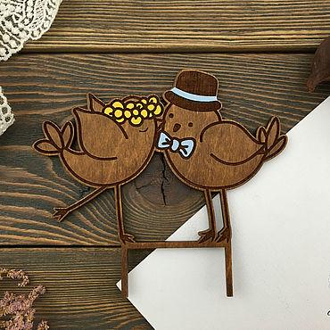 Свадебный салон ручной работы. Ярмарка Мастеров - ручная работа Топпер на свадебный торт Птицы. Handmade.