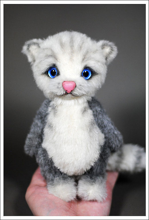 Мишки Тедди ручной работы. Ярмарка Мастеров - ручная работа. Купить Котик. Handmade. Котик, милый, дымчатый, мягкий