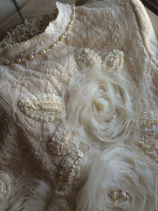 Одежда для девочек, ручной работы. Ярмарка Мастеров - ручная работа. Купить Платье ПЛТН 1017. Handmade. Бежевый, трикотажное платье
