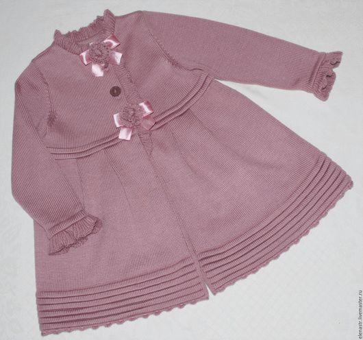 """Одежда для девочек, ручной работы. Ярмарка Мастеров - ручная работа. Купить Пальто """"розовые розы"""". Handmade. Для детей"""
