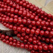 Материалы для творчества handmade. Livemaster - original item thread natural red coral bead 4 mm (art. 2960). Handmade.