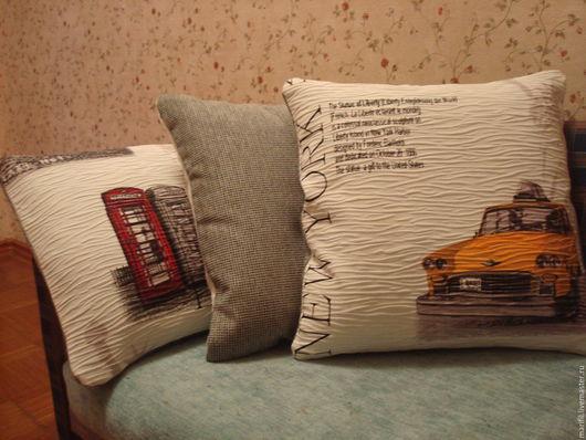 Текстиль, ковры ручной работы. Ярмарка Мастеров - ручная работа. Купить комплект  интерьерных подушек Travel. Handmade. Интерьер детской