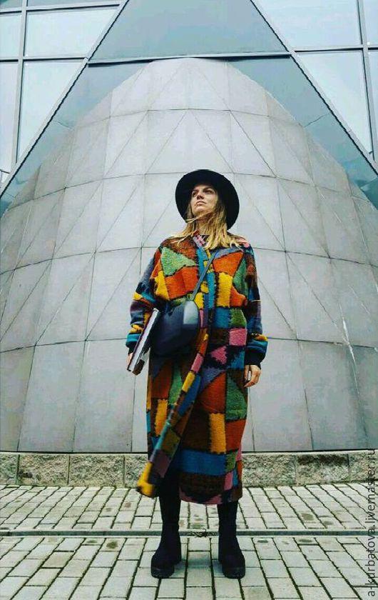 Верхняя одежда ручной работы. Ярмарка Мастеров - ручная работа. Купить Пальто oversize женское. Handmade. Комбинированный, абстрактный, пальто