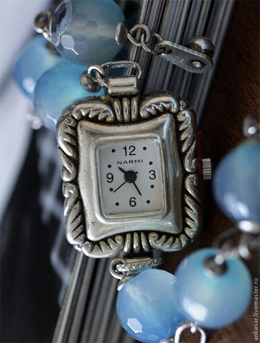 """Часы ручной работы. Ярмарка Мастеров - ручная работа. Купить Часы """"Прибой"""". Handmade. Голубой, часики, кварцевые часы"""
